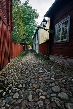 Linköping, Sweden Wow, look at the cobblestone street.