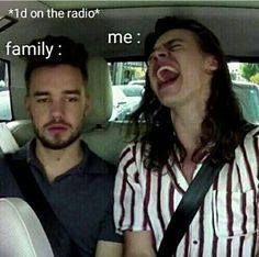 my dad is like every time one direction is on the radio changes and i put in one of my cds just to anoy him! my mom is like me lol.it is true One Direction Wallpaper, One Direction Humor, One Direction Pictures, I Love One Direction, One Direction Lyrics, Flipagram Instagram, Singing In The Car, Harry Styles Memes, Fangirl