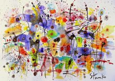 FineArtSeen - Nocturne-CLIV(homage to Chopin) by Stanislav Bojankov. This original abstract painting is full of colour and comes from the collection on FineArtSeen. Click to view more art at great prices from the Home Of Original Art. << Pin For Later >>