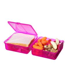 Take a look at this Pink Lunch Cube - Set of Two by Sistema on #zulily today!