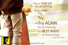 Motivational Monday – Try and Try Again