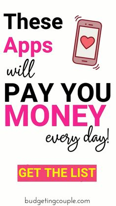 Easily start making money with our list of the best (highest earning/minimal effort) apps that pay you money in Ways To Earn Money, Earn Money From Home, Make Money Fast, Earn Money Online, Online Jobs, Way To Make Money, Free Money, Win Money, Money Lei