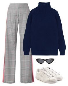 """Untitled #744"" by lady99inred ❤ liked on Polyvore featuring Monse, Victoria Beckham, adidas and Le Specs"