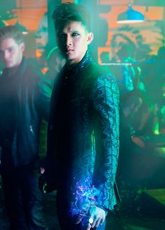 THE Magnus Bane ya'll. This boy literally just walked right off the page. Thank you tv show people for getting it RIGHT! :) //  Photo edit by AnnLightwood on Tumblr.
