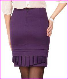 Выкройка юбки со складками в двух направлениях (шитье, видео)