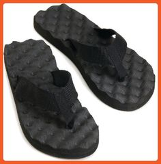 6559b6db70334 J2 Stars Summer Boa Flip Flops - Black SIZE 9 - Sandals for women (