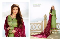 All types of Tusser Silk Georgette Salwar Suit available at Maysha Fashion(Catalog - 5351)