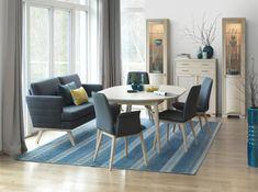 Aannø® 3000 spisebord 3630 125x133 Spisesofa Dining Chairs, Dining Table, Furniture, Design, Home Decor, Dining Room Table, Decoration Home, Room Decor, Dining Chair