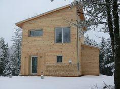 Modern House Design Cedar Siding Construction Concept