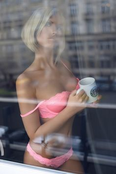 #Excellent, #beautiful, #nice, #nude, #beauty, #ero, #lingerie, #sexy, #hot, #babes, #girl, #face #pink #panties #bra #coffee #windows #blonde
