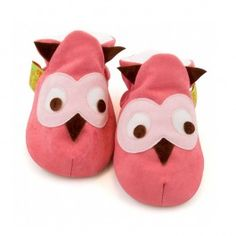 Funky Feet Baby Shoes - Pink Owl