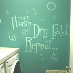 Cute laundry room idea. Done by Green Apple Painting.