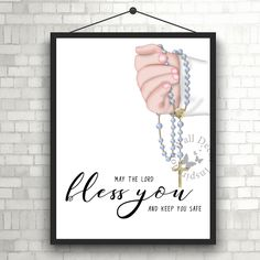 #GodBlessyou   #Christening gift   #Baptism gift   #HolyCommunion gift   Home Decor Print   #Printable Quote   #Typography   #Calligraphy by InspirationWallDecor on Etsy. Check more #digitalprint #walldecor #artprint themed at my #etsy store:  www.etsy.com/shop/InspirationWallDecor