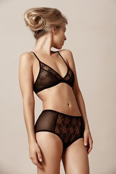 Fortnight Lace Bralet Set. Love this indie brand. // Indie Clothing Brands  UK Streetwear || http://AcquireGarms.com