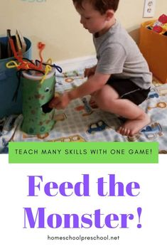 Preschoolers will practice shape recognition as they play this Feed the Monster game. The hungry monster is waiting for your kids to feed him his next shape snack. Craft Activities For Kids, Toddler Preschool, Toddler Activities, Preschool Activities, Shape Activities, Teach Preschool, Kids Crafts, Monster Games For Kids, Feed The Monster