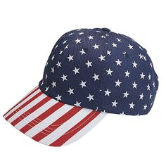 d7d2b1c1bdd5 Corona Collection Women s Cotton USA Flag Print Low Profile Cap