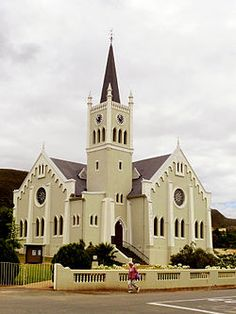 Dutch Reformed church, Barrydale - Wikipedia Cathedral Basilica, Cathedral Church, Religious Pictures, Old Churches, Church Building, Place Of Worship, Beautiful Buildings, Kirchen, South Africa