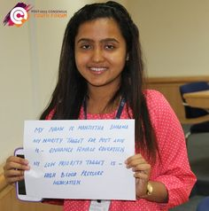 Meet Manjistha from India, she recently took part in a youth forum. After learning more about the costs and benefits of proposed targets for the post-2015 development agenda, she chose 'enhance female education' as her top priority.