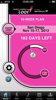 Go from 0 to 60 miles with the Susan G. Komen 3-Day®16-Week Training Plan. This app will help you train to complete the Komen 3-Day, no matt...