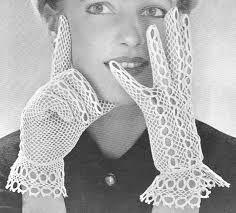 Výsledok vyhľadávania obrázkov pre dopyt crochet wedding gloves free pattern
