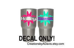 Yeti Tumbler Decal for Women / Yeti Rambler by CreationsbyADavis