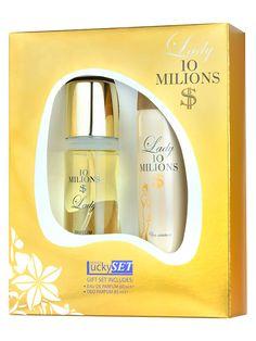 Set cadou dama Lucky Lady 10 milions $  Apa de parfum + Deodorant spray
