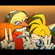 AT: Eggman and Tails by Cheroy
