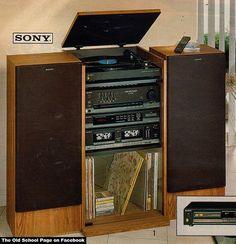 Late 1980u0027s Sony Stereo Rack System Print Adv.