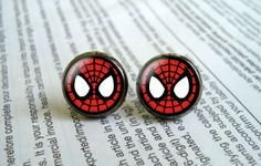 Hey, I found this really awesome Etsy listing at https://www.etsy.com/listing/175426464/retro-60s-spiderman-symbol-earrings-stud