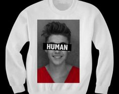 Justin Bieber is Human Sweatshirt by WastedKiss on Etsy