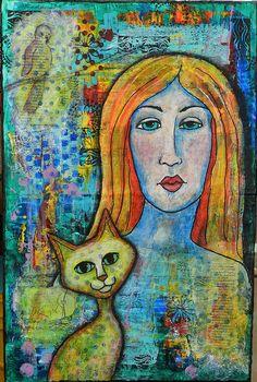 Cat Lady - RuthArt, via Flickr.