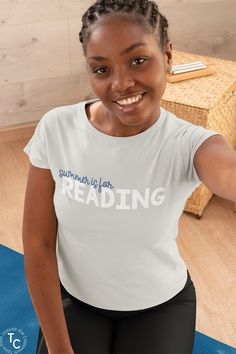 """Spending your summer catching up with reading from your favorite authors? This """"Summer is for Reading"""" tee is perfect for you! Whether you're a teacher, librarian, or just someone that loves reading, this reading t-shirt is a must add to your collection this summer! Reading tee"""