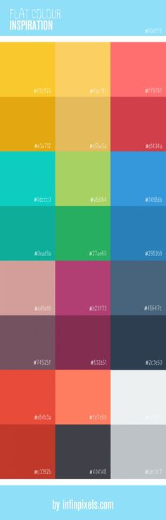 Flat Colour Inspiration for Web Design Infographic