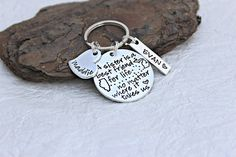 Sister Keychain - Sister Gift - Moving Away Gift - Mother Daughter Gift - Best Friends Keychain - Graduation Keychain - Brother Keychain Sister Moving Away, Moving Away Gifts, Sister Gifts, Mother Gifts, Little Bit Of Love, Best Friends For Life, Personalized Charms, Metal Stamping, Hand Stamped