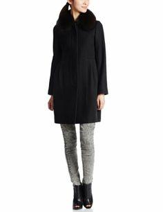 Amazon.co.jp: (フレイ アイディー)FRAY I.D ファー付きドレスコート: 服&ファッション小物
