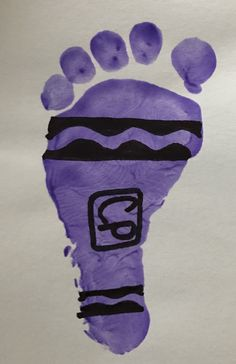 My First Crayon Infant footprint I do for my infant classroom for Back To School theme! 🖍🖍📚🍎 back to school projects, fun back to school crafts, clothes for back to school Back To School Art, Back To School Crafts, Daycare Crafts, Classroom Crafts, Baby Crafts, Toddler Crafts, Infant Crafts, Kid Crafts, Daycare Rooms