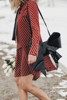 Valentines Day Look via Target | Red Stripe Dress | Quarter Strap Sandals | Bow Bag | Cat Eye Slim Sunglasses | Valentine's Day outfit | Valentine's Day dress || The Fashion Fuse #vdaydress #stripeddress #vdayoutfit