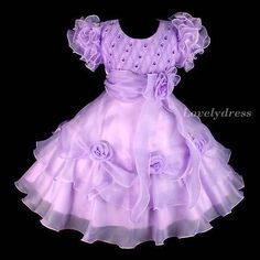 NEW Toddles Flower Girl Wedding Pageant Party Princess Dress Purple SZ4T G449