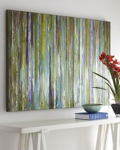 """""""Colorful Expressions"""" Painting $ 395  Hand painted in stunning shades of green, brown, and blue on canvas"""
