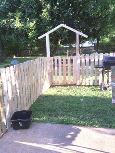 Build a low-cost pallet fence. Would be cute for a front yard or around a garden. You could even paint it and it would look even better!