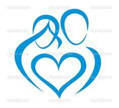 Family, love symbol — Imagen vectorial #7224546