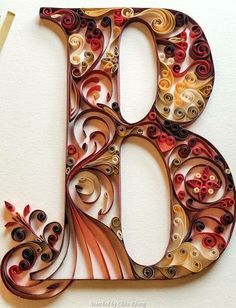 "Quilled ""B"""