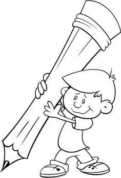 Dibujo De Un Niño Leyendo Un Libro Dibujos Para Colorear Dibujo
