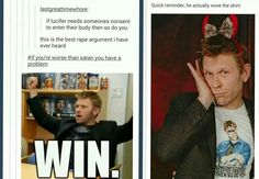 Mark Pellegrino, ladies and gentlemen. He wore the shirt AND Devil horns....with a bow