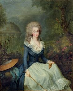 Marie Antoinette in front of the Temple of Love by Jean-Baptiste-André Gautier-Dagoty