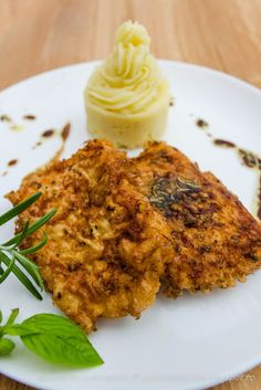 Fried perch fillet with sauce spices