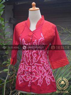 Model Baju Batik Wanita Opnaisel Megamendung Merah | Indonesian Unique Batik Tops Clothing for Women - Men http://thebatik.co.id/baju-batik/