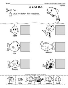 Seuss One Fish Two Worksheets Find This Pin And More