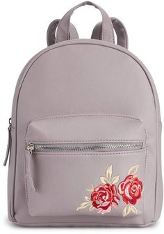 9403ebca26 Floral Embroidered Mini Backpack Blazer Fashion