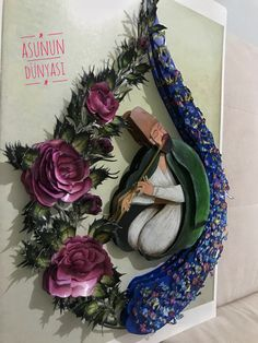 Rölyef Floral Wreath, Floral Crown, Garlands, Flower Crown, Garland